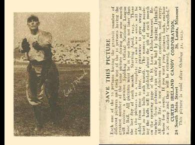 1923 E123 Curtis Ireland Candy Baseball Cards