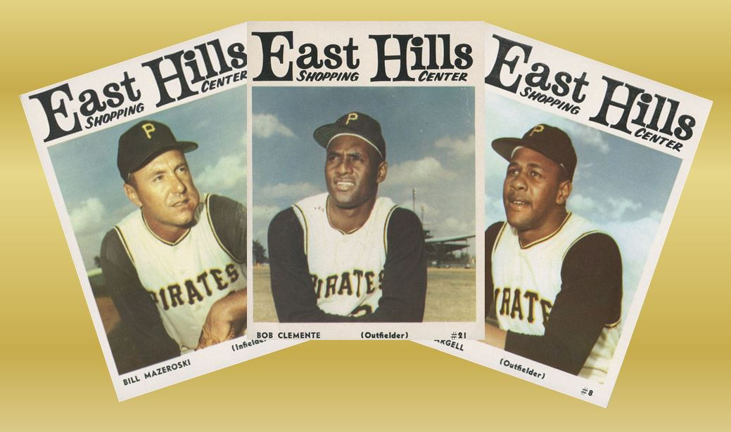1966 East Hills Shopping Center Pirates Baseball Cards
