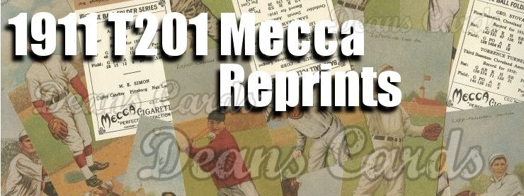 1911 T201 Mecca Reprints