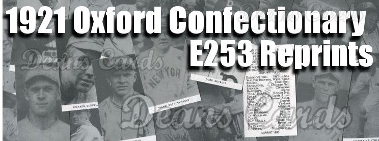 1921 E253 Oxford Confectionary Reprints