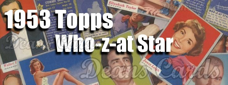 1953 Topps Who-Z-At Star