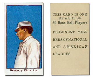"1909 E101 Anonymous ""Set of 50"" Baseball Cards"