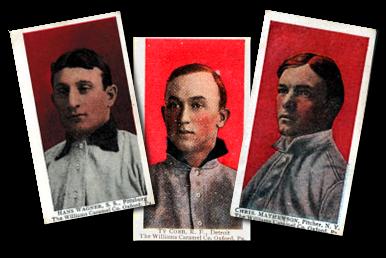 1910 E103 Williams Caramel Baseball Cards
