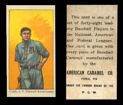 1915 E106 American Caramel Baseball Cards