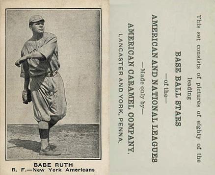 1921 E121-80 American Caramel Baseball Cards