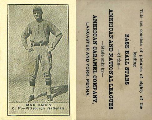 1922 E122 American Caramel Baseball Cards