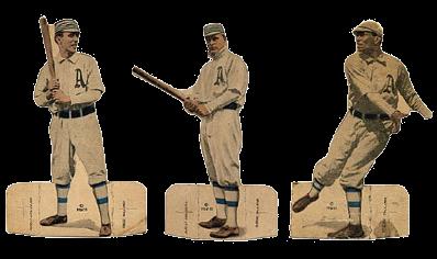 1910 E125 American Caramel Die Cuts Baseball Cards