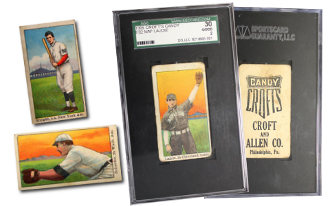 1909 E92 Croft's Candy Baseball Cards