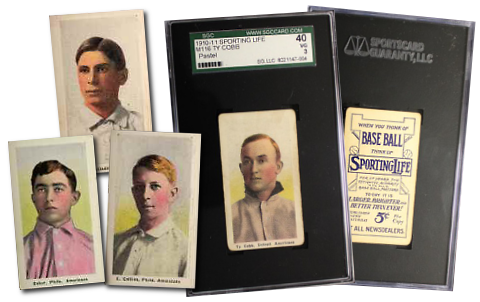 1911 M116 Sporting Life Baseball Cards