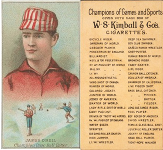 1887 N184 W.S. Kimball Champions Cards