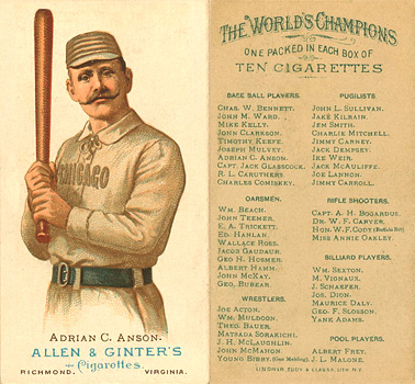 1888 N28 Allen & Ginter Baseball Cards