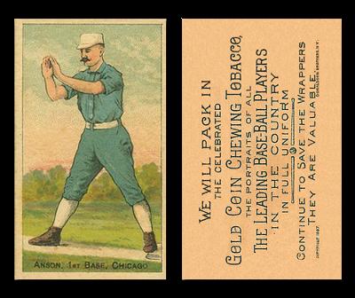 1887 N284 Buchner Gold Coin Baseball Cards