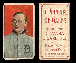 1909-11 T206 El Principe De Gales Back Baseball Cards