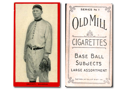 1910 T210-1 Old Mill South Atlantic League Series 1 Baseball Cards