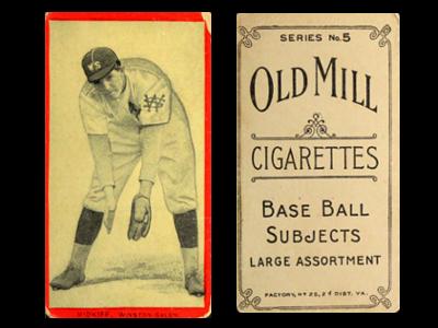 1910 T210-5 Old Mill Carolina Association Series 5 Baseball Cards