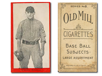 1910 T210-6 Old Mill Blue Grass League Series 6 Baseball Cards