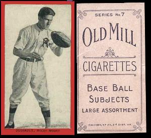 1910 T210-7 Old Mill Eastern Carolina League Series 7 Baseball Cards