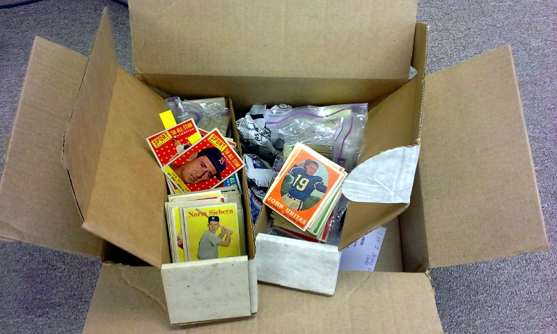 We get more collections sent to us through mail; and pay a fair price for vintage cards.