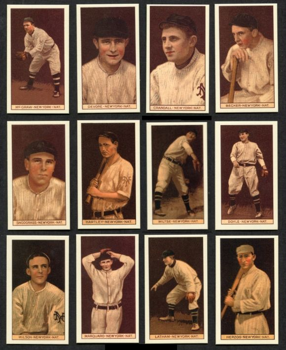 1912 T207 Reprints   T207 REPRINT New York Giants Team Set