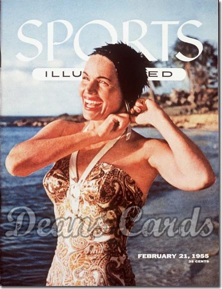 1955 Sports Illustrated  February 21  -  Betty DiBugnano (Swimsuit Model)