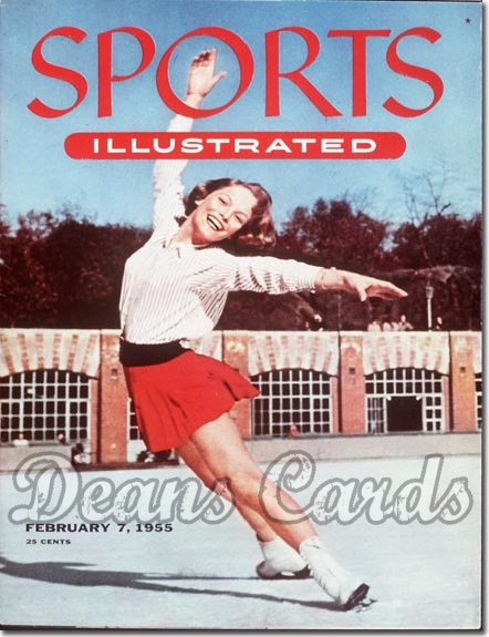 1955 Sports Illustrated  February 7  -  Carol Heiss (Figure Skating / Figure Skater)