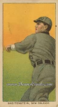 1909 T206 Reprints #50   Ted Breitenstein