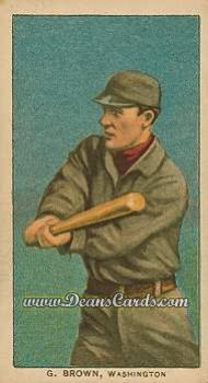 1909 T206 #0   George Brown - Washington