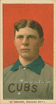 1909 T206 Reprints #59   Mordecai Brown