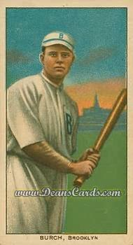 1909 T206 Reprints #60 BAT  Al Burch