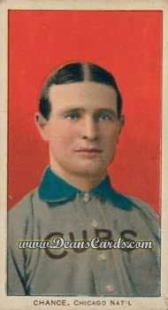1909 T206 Reprints #78 RED Frank Chance