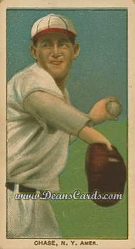 # 86 Hal Chase Throwing White Cap - T206 REPRINT