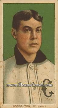 1909 T206 Reprints #102   Bunk Congalton