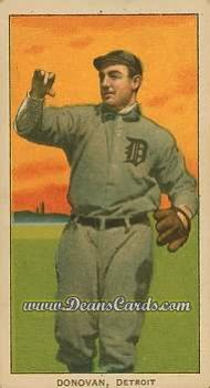 1909 T206 #0   Bill Donovan - Follow Thru