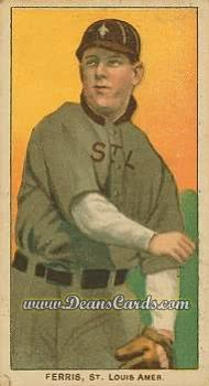 1909 T206 #0   Hobe Ferris - Throwing