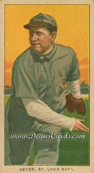 1909 T206 Reprints #187   Rube Geyer