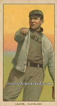 1909 T206 Reprints #270 THR  Nap Lajoie