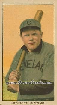 1909 T206 #0   Glenn Liebhardt - Batting