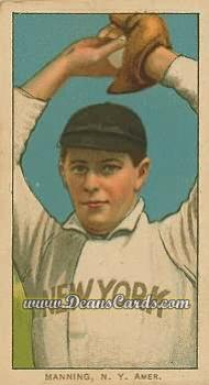 # 302 Rube Manning Pitching - T206 REPRINT