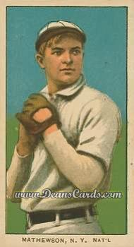 # 309 Christy Mathewson White Cap - T206 REPRINT