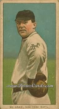 # 321 John McGraw Glove at Hip - T206 REPRINT