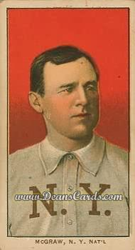 # 322 John McGraw Portrait No Cap - T206 REPRINT