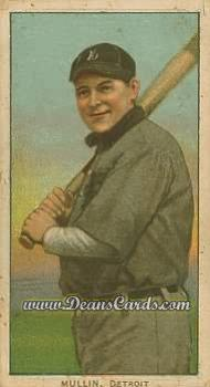 # 350 George Mullin with Bat - T206 REPRINT