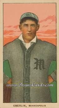 1909 T206 Reprints #362   Frank Oberlin