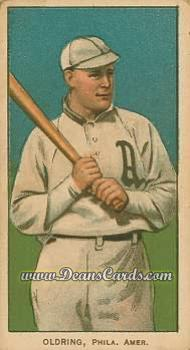 1909 T206 #0   Rube Oldring - Batting