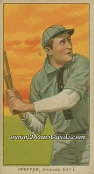 1909 T206 #0   Francis Pfeffer - Batting