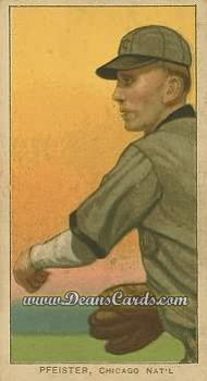 # 390 Jake Pfeister Throwing (Pfiester) - T206 REPRINT