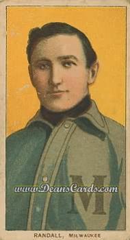 1909 T206 Reprints #403   Newt Randall