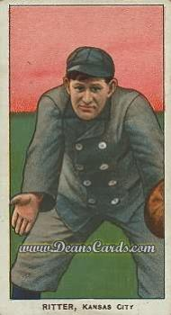 1909 T206 Reprints #413  Lou Ritter