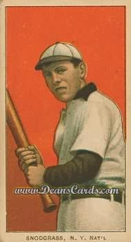# 454 Fred Snodgrass Batting - T206 REPRINT