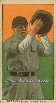 1909 T206 Reprints #467   Jim Stephens
